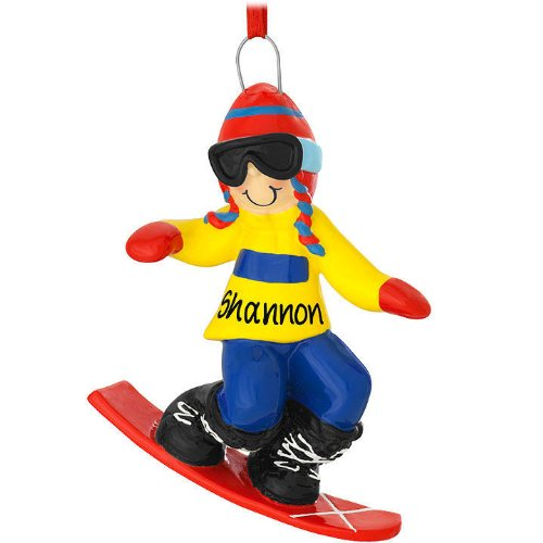 Snowboard Boy Personalized Ornament