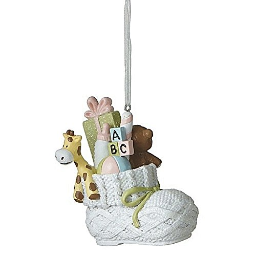 Filled Baby Bootie Ornament