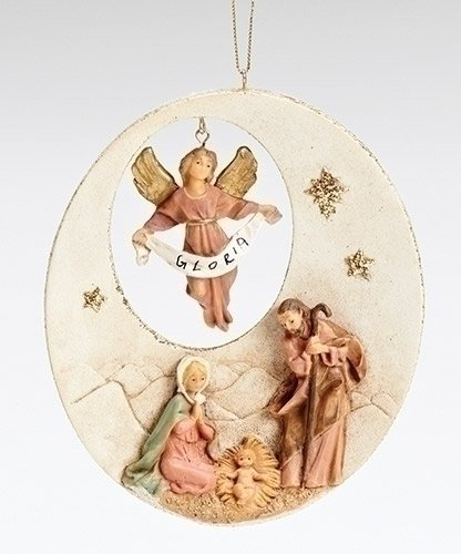 5″ Holy Family With Gloria Ornament Wafer Style Fontanini by Roman