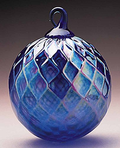 Glass Eye Studio Cobalt Diamond Facet Classic Ornament (September)