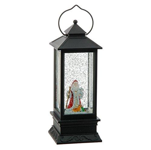 "Snowglobe Lantern with Santa Lighted 10.5 """
