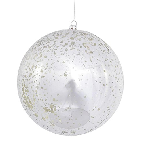 Vickerman 440452 – 6″ Silver Shiny Mercury Ball Christmas Tree Ornament (4 pack) (M166507)