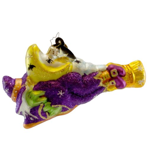 Christopher Radko MOONLIGHT SNOOZE 1014672 Ornament Witch Halloween
