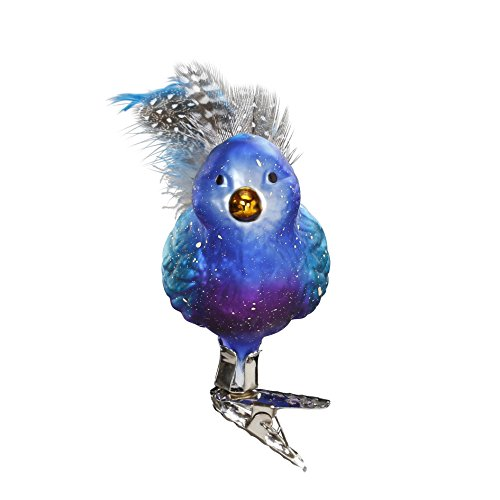 Belinda Bluebird , #1-036-16, from the 2016 Bird Haus Collection by Inge-Glas Manufaktur; Gift Box Included