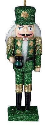 Kurt Adler Ornaments C9668 Wooden Irish Nutcracker Ornament