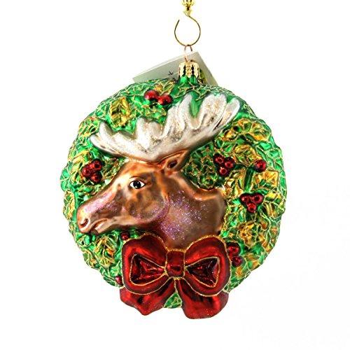Christopher Radko MERRY CHRISTMOOSE Glass Moose Wreath Christmas