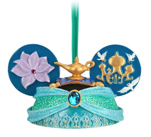 Disney Parks Princess Jasmine Mickey Mouse Ears Hat Ornament
