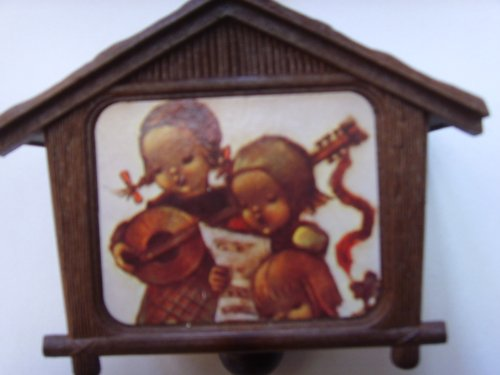 "Christmas Music Box Ornament with Hummel Style Picture ; ""Jingle Bells"""