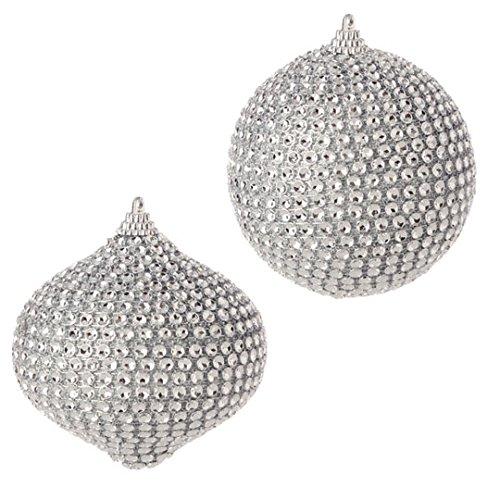 RAZ Imports – 3.5″ Ball And Kismet Ornaments – Set of 2