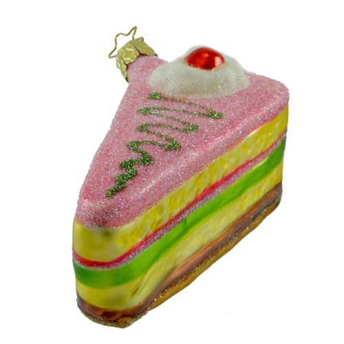 Inge Glas LAND OF SWEET TRIFLE Blown Glass Ornament Desert Sponge Cake 209406