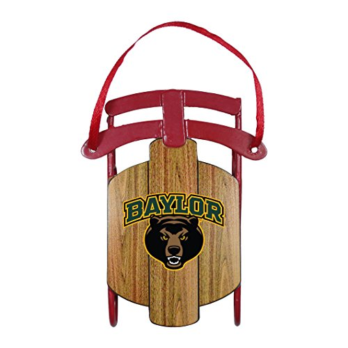 NCAA Baylor Bears Metal Sled Ornament