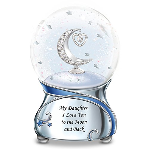 My Daughter, I Love You To The Moon And Back Snowglobe With Moon And Heart Charm by The Bradford Exchange
