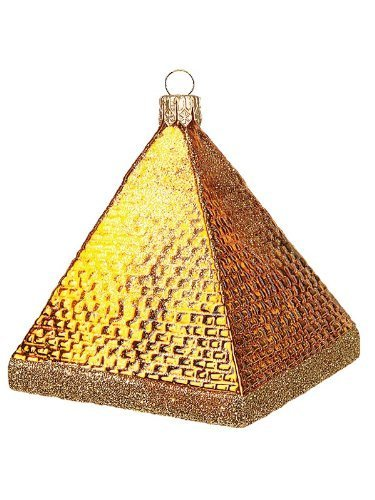 Khufu's Great Pyramid Giza Egypt Polish Glass Christmas Ornament by Pinnacle Peak Trading Company