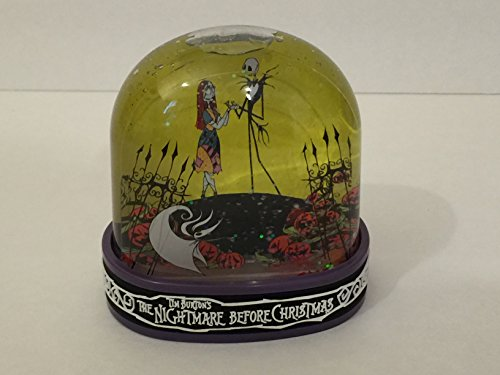 Disney Snowglobe Sally Jack Skellington Nightmare Before Christmas New