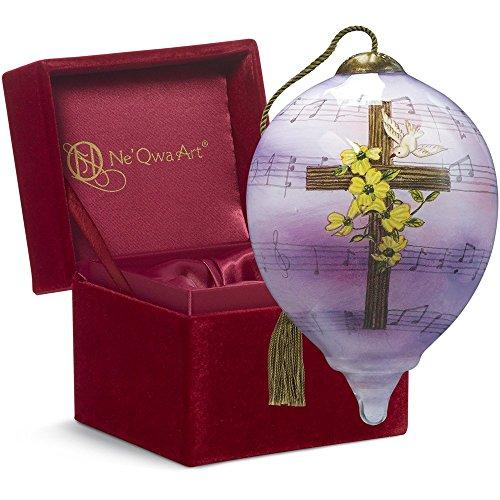 "Ne'Qwa Art, Easter Gifts, ""Amazing Grace"" Artist Sandy Lynam Clough, Petite Princess-Shaped Glass Ornament, #7161186"