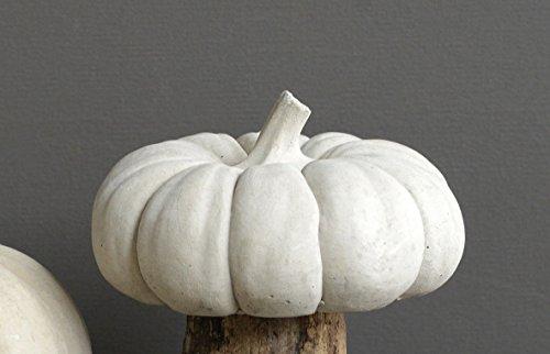 White 5 Inch Cement Harvest Pumpkin