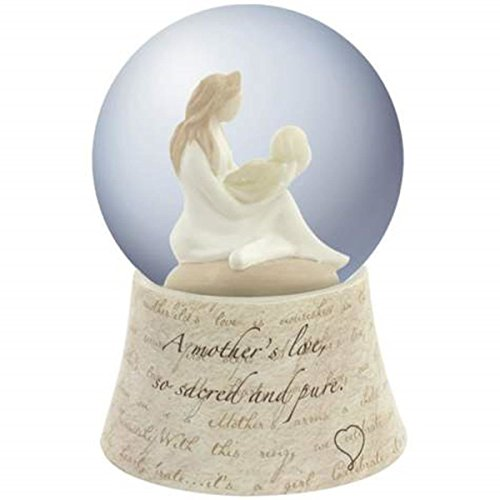 WL SS-WL-19705 Mother'S Love Crystal Water Globe with Mom Cradling Newborn Baby, 85mm