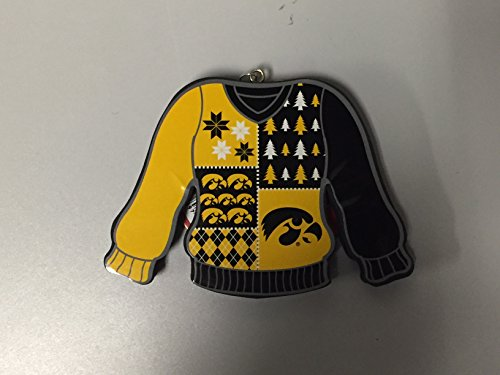 Iowa Hawkeyes Christmas Sweater Team Ornament
