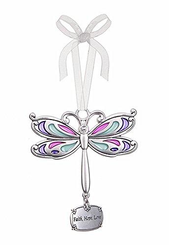 Faith Hope Love Dragonfly Charm Ornament – By Ganz
