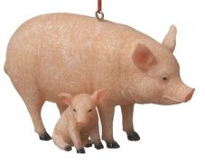 Farm Animal With Baby Ornament – Pig3