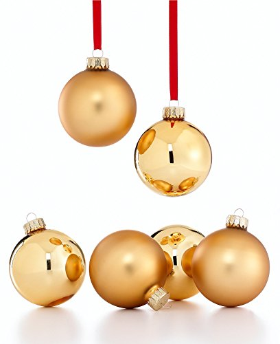 Holiday Lane Set of 6 Gold Ball Ornaments