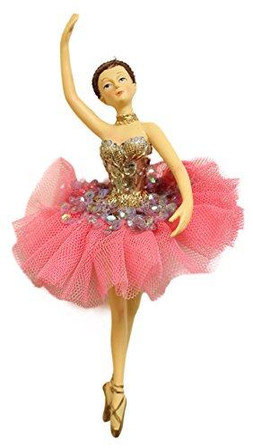 Christmas Decoration 6.5″ Ballerina Christmas Tree Ornament (4 Styles) (Brunette (C))