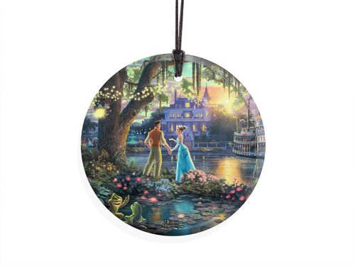 Thomas Kinkade Star Fire Hanging Glass (Ornament) – The Princess and the Frog