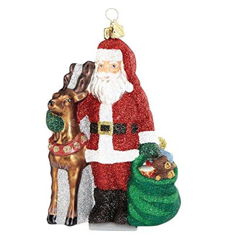 Reed & Barton Jingle All The Way Santa & Reindeer Figural Ornament
