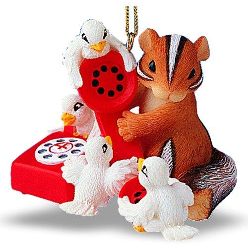 12 Days of Christmas Ornament #4 -Four Calling Birds