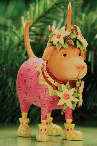 Patience Brewster Krinkles Yellow Labrador Dog Lending Light Christmas Ornament
