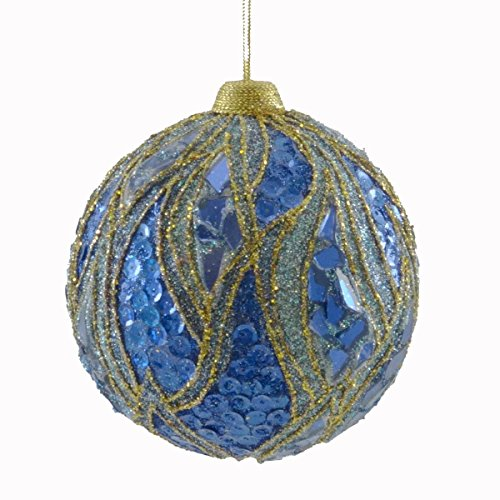 Holiday Ornament FLAME BALL Glitter Christmas Jim Marvin B83022235