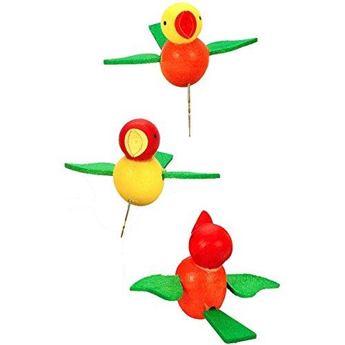 "11-0024 – Christian Ulbricht Ornament – Birds on Pins – .75″""H x 1.25″""W x 1″""D"