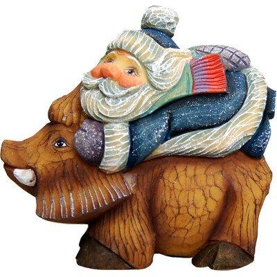 G. Debrekht Santa on Boar Figurine Ornament