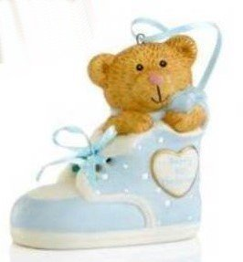 Holiday Lane Christmas Ornament, Baby's 1st Bear in Blue Bootie