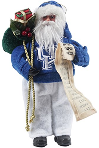 Santa's Workshop 9″ University of Kentucky Santa Ornament