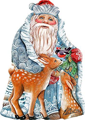 G. Debrekht Winter Treasure Santa Deco Ornament