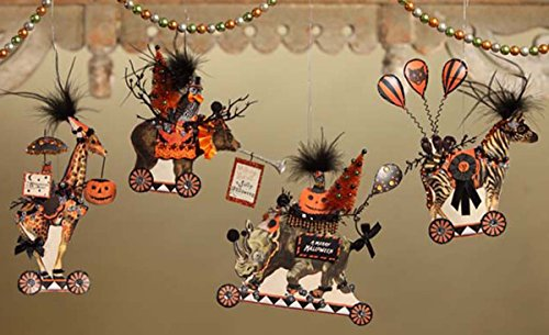 Bethany Lowe Halloween Animals Hanging Ornaments (Set/4)