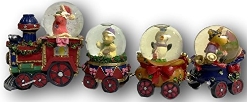 "Santa & Friends Snow Globe Train ~ ""Holiday Classics Collection"""