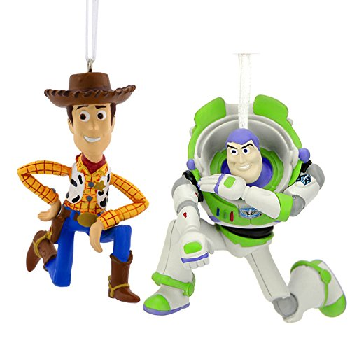 Toy Story Buzz Lightyear and Woody Disney/Pixar Christmas Ornaments by Hallmark