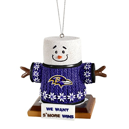 NFL Baltimore Ravens Smores Ornament, Black, One Size