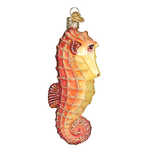 Old World Christmas Sea Horse Glass Blown Ornament