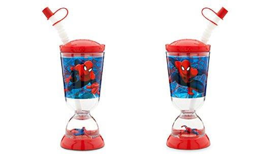 Disney – Spider-man Snowglobe Tumbler with Straw – NEW