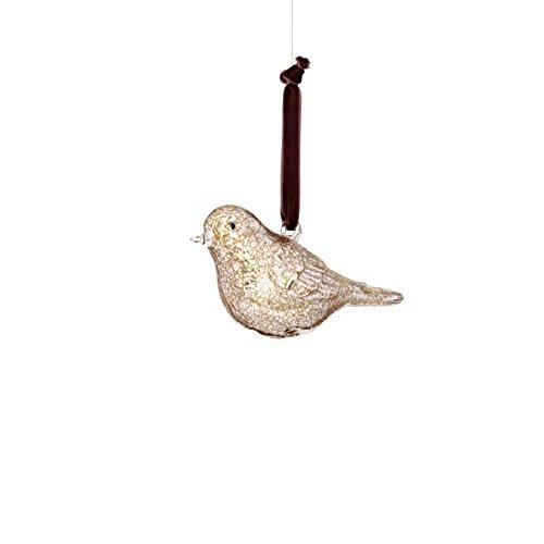 Sage & Co. XAO20168GD Glass Bird Ornament (4 Pack)