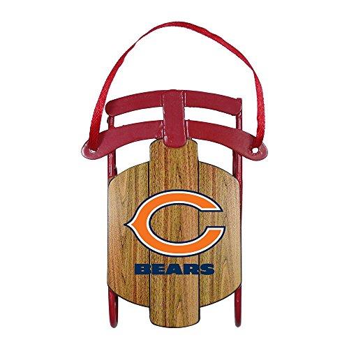 NFL Chicago Bears Football Metal Sled Christmas Ornament
