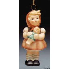 Hummel Girl With Doll Ornament
