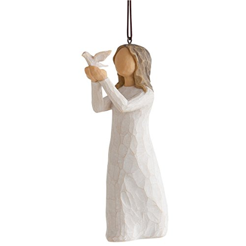 Willow Tree Soar Women Holding Dove Christmas Ornament 27577 Susan Lordi New