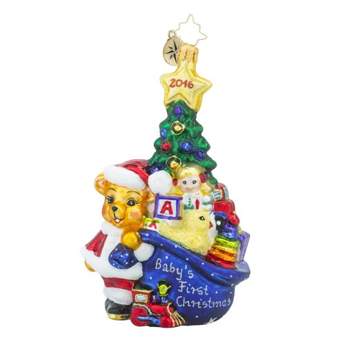 Christopher Radko First Glimpse Baby and Animal Christmas Ornament