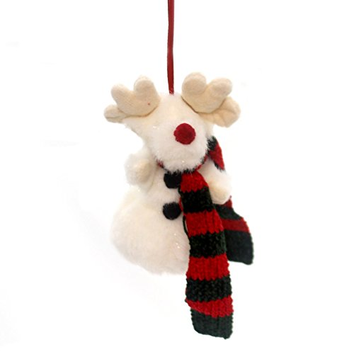 Boyds Bears Plush FARKLE R. SNOWMOOSE ORNAMENT Antlers Christmas Scarf Jointed 562411