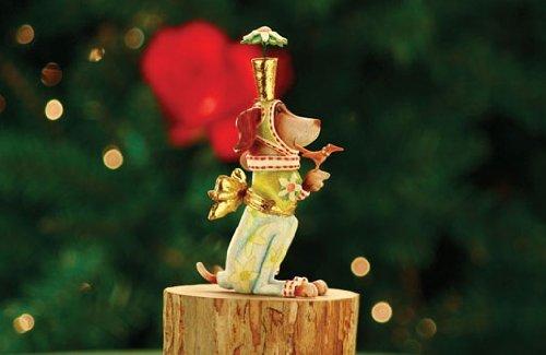 Patience Brewster Krinkles Pointsittier Dog Christmas Ornament