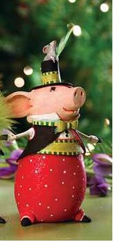 Patience Brewster Pierre Pig Ornament 08-30671